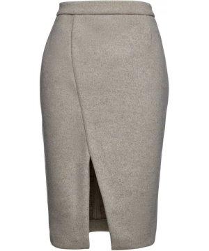 Conquista Sand Colour Mouflon Pencil Skirt