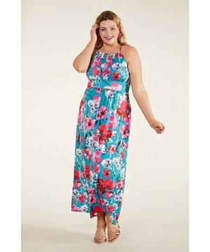 Yumi Curves Poppy Print Jersey Maxi