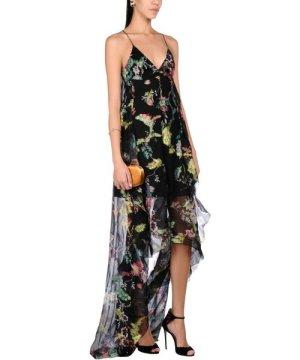 Etro Black Print Silk Dress