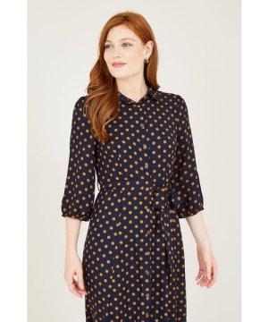Mela London Yumi Polka Dot Shirt Dresss