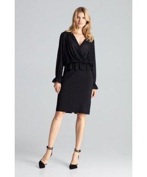 Figl Black Classic Pencil Skirt