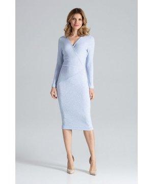 Figl Blue Fitted Midi Dress