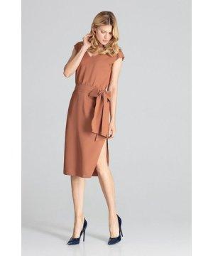 Figl Brown Midi Dress