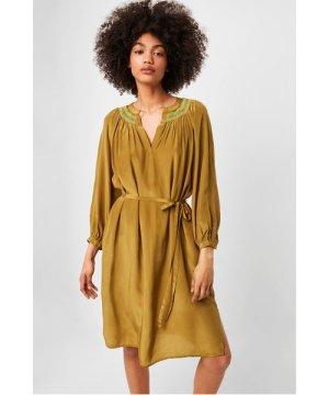 Almedina Drape Smocked Dress - vibrant green multi