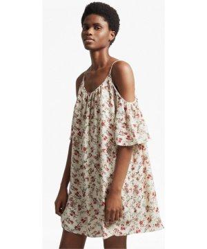 Anastasia Ditsy Cold Shoulder Dress - brule multi