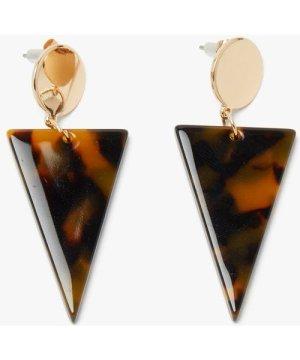 Geo Resin Earring - tort/gold