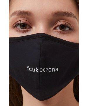 Fcuk Corona Face Mask - black/white