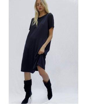 Zoewe Crepe Mix Layered Dress - utility blue