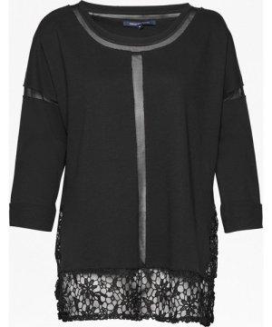 Noland Mesh Panelled Lace Top - black