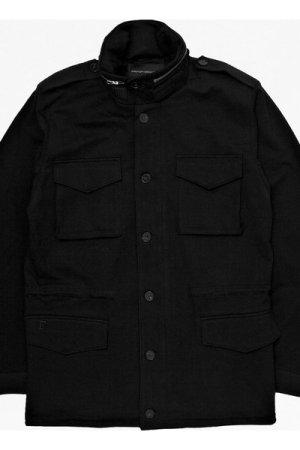 Calendula Jersey Wolf Jacket - black