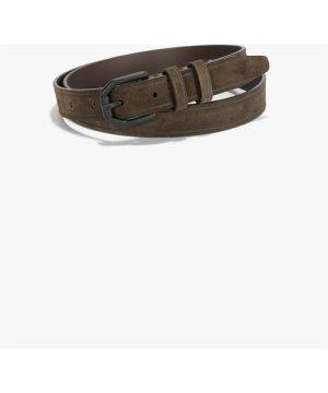 Suede Leather Belt - dark brown