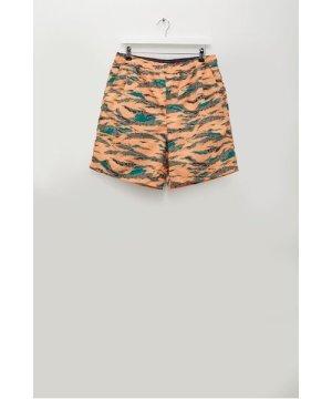 Mars Print Recycled Swim Shorts - paradise orange