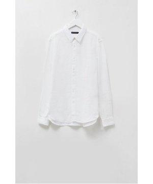 Overdye Linen Shirt - linen white