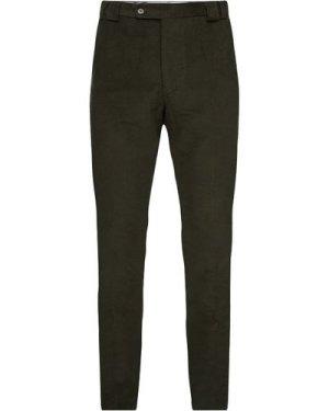 Barbour Mens Olive Green Moleskin Trousers Olive 38