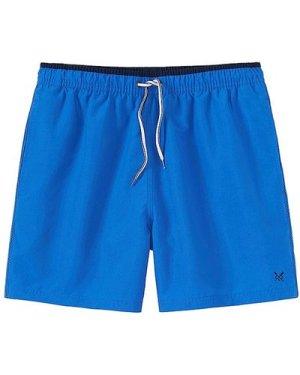 Crew Clothing Mens Seapoint Swim Shorts Bright Blue Small