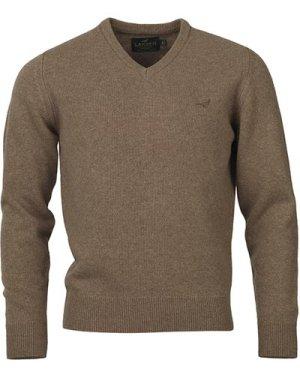 Laksen Mens Johnston V Neck Knit Camel Large