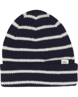 Tilley Unisex Merino Stripe Beanie Navy/Cream One Size