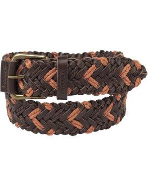Schoffel Unisex Woven Leather Belt Brown/ Ochre XXL