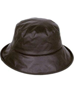 Heather Womens Ailsa Wax Downbrim Hat Olive Small / Medium