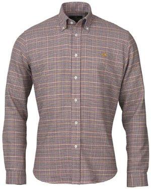 Laksen Mens Harris Shirt Pine/Gorse/Bordeaux/Navy XXL