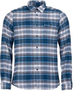 Barbour Mens Shoreham Shirt Blue Steel Small