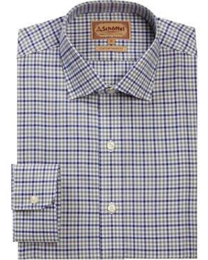 Schoffel Mens Burnsall Shirt Navy/Olive Micro 18.5 Inch