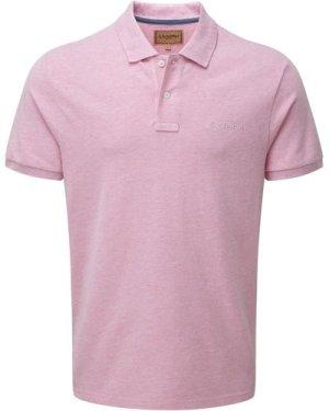 Schoffel Mens Padstow Polo Shirt Pink Medium