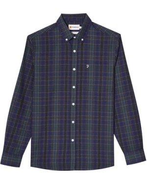 Farah Mens Edina Shirt Dark Olive XL