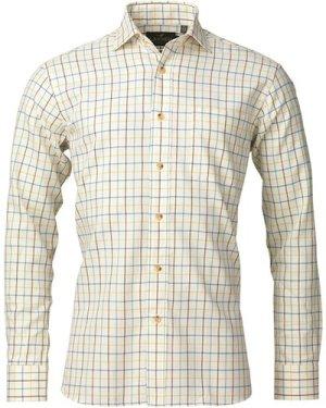 Laksen Mens Connor Shirt Blue/Gorsy/Green Large