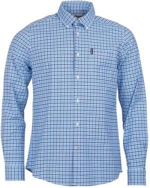Barbour Mens Gingham 11 Tailored Shirt Blue Medium
