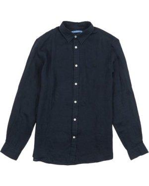 Crew Clothing Mens Plain Linen Shirt Cassis XXL