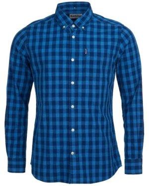 Barbour Mens Indigo 6 Tailored Shirt Indigo Small