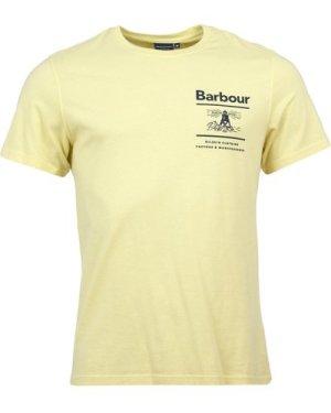 Barbour Mens Chanonry Tee Lemon XL