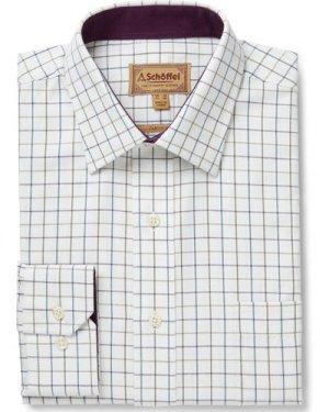 Schoffel Mens Burnham Tattersall Shirt Riverbed 16.5 Inch