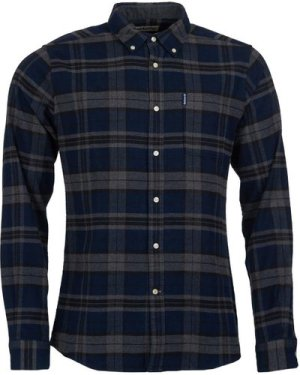 Barbour Mens Highland Check 19 Tailored Shirt Navy XXL