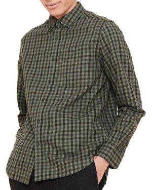 Aigle Mens Newtroncais Shirt Kaki Check XL