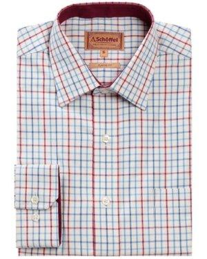 Schoffel Mens Banbury Shirt Red/ Denim 17 Inch