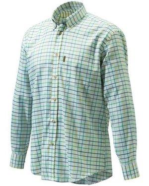 Beretta Mens Classic Shirt Yellow/Green/Amber XL