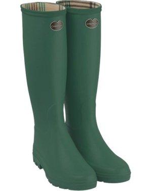 Le Chameau Womens Iris Wellington Boots Vert Fonce 42