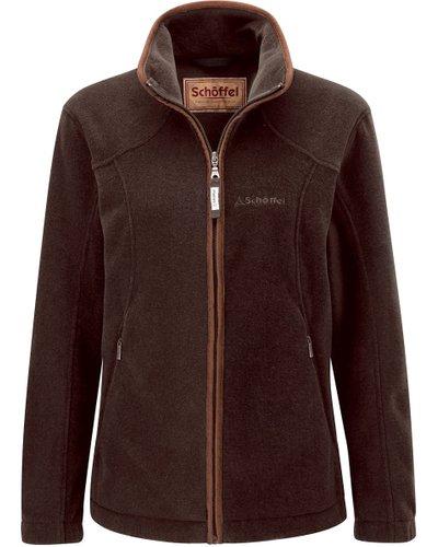 Schoffel Womens Burley Fleece Jacket Mocha 6