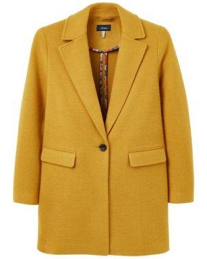 Joules Womens Eve Wool Coat Caramel 14