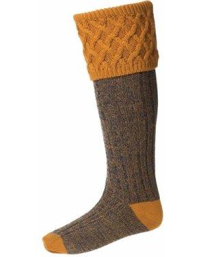 House of Cheviot Mens Rannoch Moor Socks Ochre Large