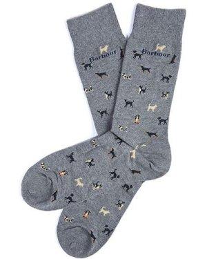 Barbour Mens Mavin Sock Mid Blue/Dog Medium