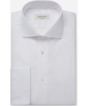Shirt  solid  white 100% pure cotton poplin viroformula, collar style  spread collar, cuff  french cuff (cufflinks)
