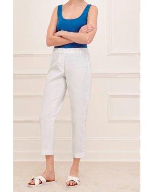 Devon Linen Turn Up Trousers