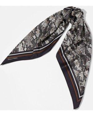 Karen Millen Snake Print Satin Scarf -, Brown