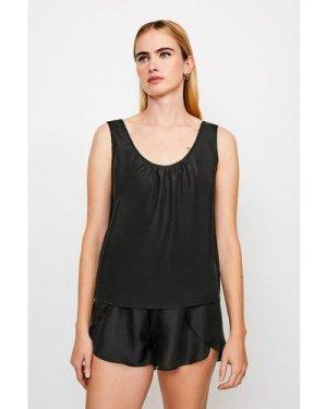 Karen Millen Silk Lounge Top -, Black