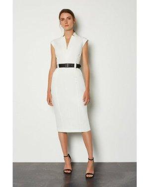 Karen Millen Forever Cap Sleeve Dress -, Ivory