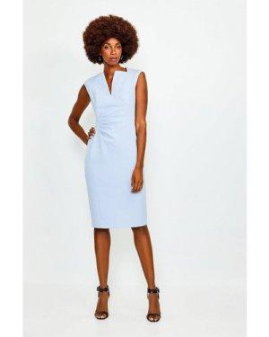 Karen Millen Envelope Neck Dress -, Pale Blue