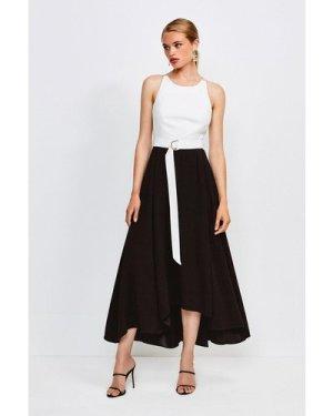 Karen Millen Colourblock Halter Neck Dress -, Mono